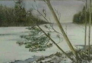 spring thaw   watercolour